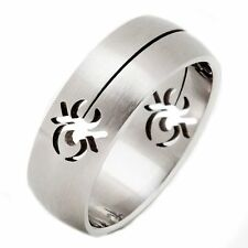 8mm Scorpion Shaped Cut Out Surgical Grade Stainless Steel Puzzle Ring Size