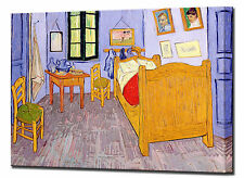 Vincent Van Gogh Bed Room in Arles Canvas Print Framed Quality Wall Art Picture