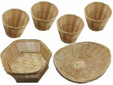 Supply Wicker Rattan Basket handmade Bamboo basket Weaving Wooden furniture Reed
