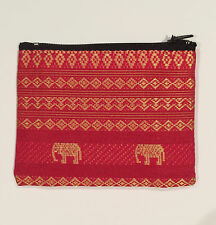 Thai Silk Purse with Elephants hand made in Thailand Brand New!