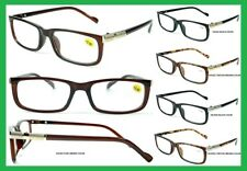 Men's Women's Readers Reading Glasses Metal Clear Lens Frame Power +1.00 - +3.50