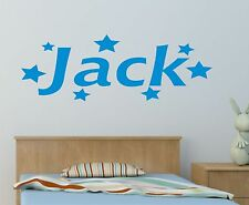 Personalised Name Stars Wall Art Girls or boys Room Childrens Kids Sticker NO2