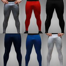 Hot Mens Tight Base Layer Pants Long Leggings Thermal Compression Under Trousers