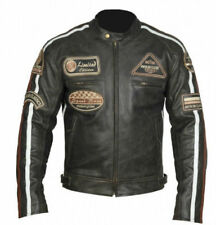Harley Leather Motorcycle Jacket Roadstar Brown Retro Leather Jacket NEU.M-4XL