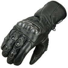 Motorcycle gloves Motorcycle Biker Kevlar Leather gloves Black Gr-S-2XL