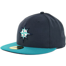 New Era 59Fifty Batting Practice 2016 Seattle Mariners Game (Navy/Teal) MLB Cap