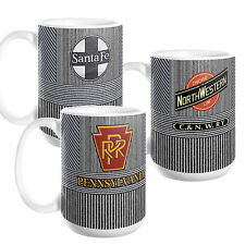 New Pinstripe RAILROAD ENGINEER Coffee MUG, Custom or Antique Logo, 11oz/15oz