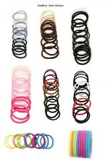Hair Elastics Hair Ties Hair Bands Ponytail Holder Assorted Size&Colour 12 Pack
