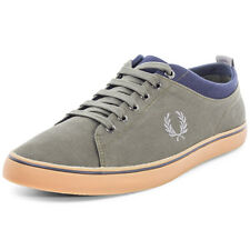 Fred Perry Hallam Twill Mens Canvas Forest Trainers