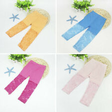 2-7Y Trendy Baby Kids Girl Lace Leggings Cropped Pants Ballet Dance Chic Bottoms