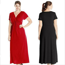 New Women Lady Long Maxi Formal Summer V Evening Cocktail Party Plus Size dress