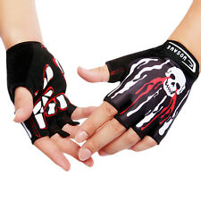 Gel Bike Half Finger Cycling Gloves Fingerless Sport Short Gloves Black M-XL