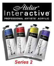 Atelier Interactive Acrylic Paints 80ml Tubes S2 - All Series2 Colours Available