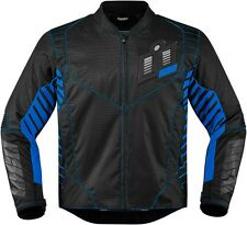 NEW 2016 ICON BLACK/BLUE WIREFORM MOTORCYCLE JACKET STREET  CRUISER ALL SIZES