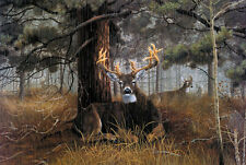 Canvas for living room Decor prints oil painting Rainy days deer under the tree