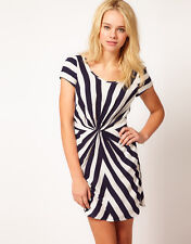 Traffic People Blue and White Stripe Dress-With Tags Boutique Outlet now £8