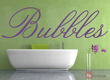 Bubbles Quote, Vinyl Wall Art Sticker Decal Mural, Bathroom. Home, Wall Decor