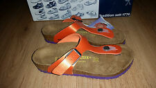 BIRKENSTOCK - GIZEH ORANGE WITH PURPLE SOLES - KIDS - RRP $100 SAVE $25
