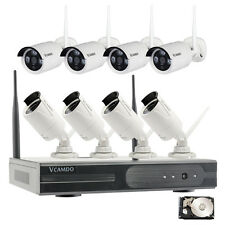 Vcamdo best wireless security camera system for home remote review mobile phone