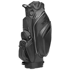 NEW 2016 OGIO PISA GOLF CART BAG. CARBON BUZZSAW BLACK ASH BLUE COOLER POCKET