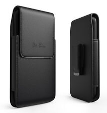 Black Leather Holster Case Belt Clip Pouch Holder Cover Various Apple iPhones