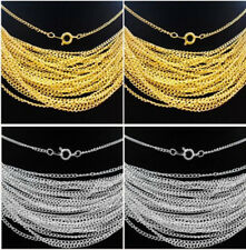 """30/50/100/500pcs Silver/Gold plated chain finding With Clasp 22"""",2mm"""