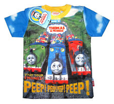 THOMAS & FRIENDS Kids toddler vibrant summer t-shirt Size S-L Age 1-3y Free Ship