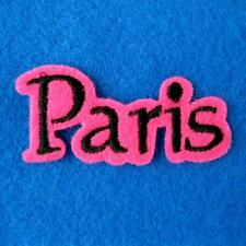 Paris France Travel Souvenir Embroidered Iron on Sew Applique Patch Holiday Bike