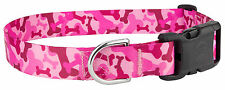 Country Brook Petz™ Pink Bone Camo Feather Weight Deluxe Dog Collar