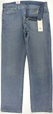NWT Levi's 504 Regular Straight Fit Mens Cotton/Poly Stretch Jeans Gray/Blue