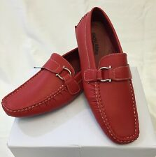 MEN GIOVANNI DRESS SHOES Loafer Casual Italian Slip-On Solid Red NEW HOT M9522