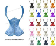 22 Full Double Steel Boned Waist Training Satin Underbust Corset #H8528-BT-SA