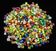 Wholesale 500/1000pcs mixed color glass beads charm jewelry design finding 3mm