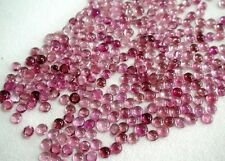 Natural Pink Tourmaline Cabochon Round 3mm - 6mm Calibrated Size Loose Gemstone