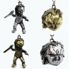 New Child's Play Bride of Chucky Metal Keyring Keychain Gold Silver Color