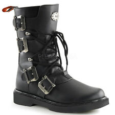 Demonia DEFIANT-306 Men's Black Calf High Military Lace Up Combat Boots