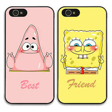 EC Pair Best Friend SpongeBob Partrick Hard Cover Case For Apple iPhone/Samsung