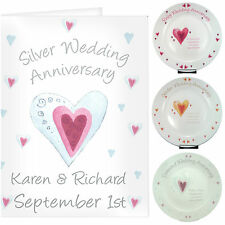 Personalised Wedding Anniversary Card & Gift Ideas Silver Ruby Golden Diamond