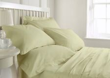 Super Soft 800 1000 1200 1500 TC Ivory Solid Bedding Set 100% Cotton All US Size