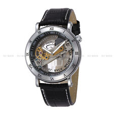 Luxury Mens Skeleton Classic Automatic Mechanical Wrist Stainless Steel Watch