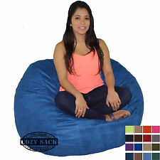 Bean Bag Chair 4' Foot Cozy Bean Bag Sack Medium Pick your Color