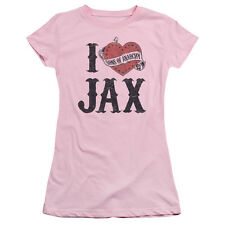 "Sons Of Anarchy ""I Heart Jax"" Pink Women's Adult & Junior Tee"