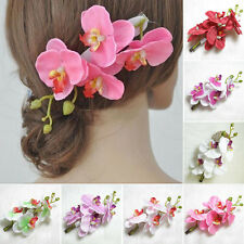 Stylish Women Artifical Orchid Flower Bridal Party Wedding Beach Gift Hair Clip