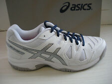 ASICS KIDS TENNIS SHOES- SNEAKERS GEL-GAME 5 GS- # C503Y- 0193- WHITE/SILVER