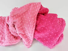 Handmade Minky Baby Blanket - Hot Pink and Pink