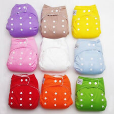 Diapers + Inserts Adjustable Reusable Lot Baby Washable Cloth Diaper Nappies