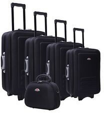 Essential Home Supply Bags NEW 5 Piece Suitcase Trolley Travel Bag Luggage Set
