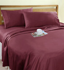 Ramesses Bed Sheets NEW Organic Cotton Percale 250 Thread Count Sheet Set