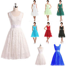 STOCK HOT Hot Formal Lace Prom Party Ball Bridesmaid Evening dress Size 6-18