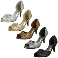 Ladies Anne Michelle Slip On Heeled Shoes